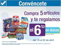 Sam's Club: 6x5 en dulces