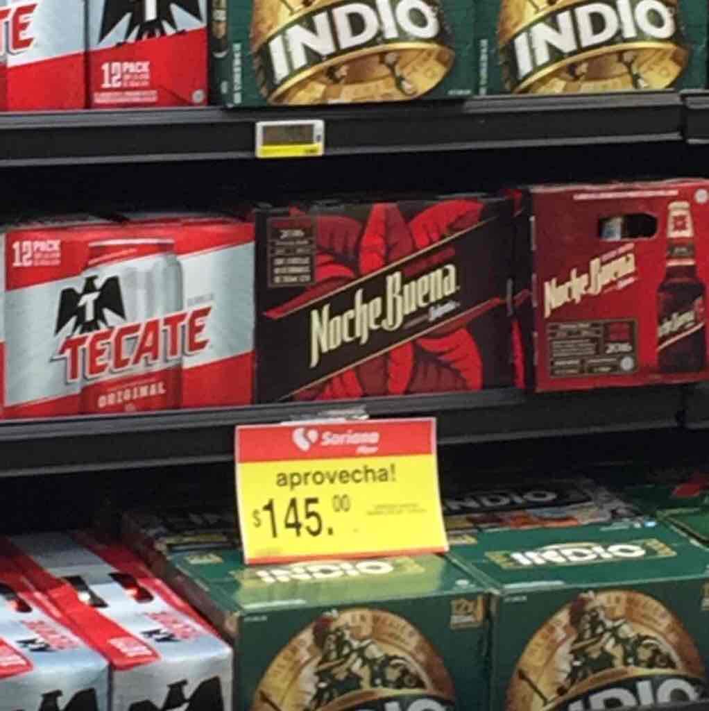 Soriana: cerveza noche buena 12 pack