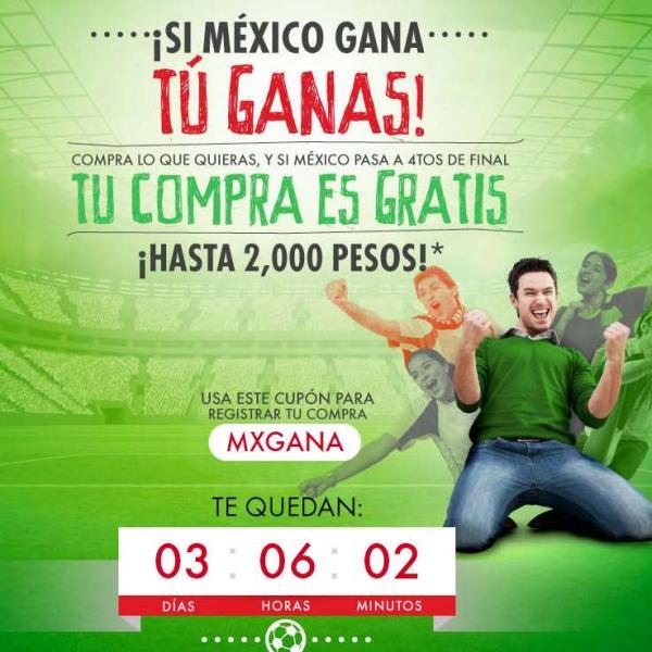 Linio: bonificación de tu compra hasta $2,000 si México gana