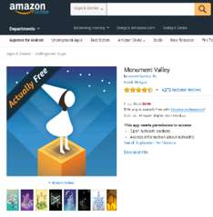 Amazon App Store USA: Monument Valley Gratis.