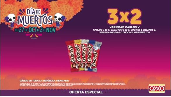Oxxo: 3x2 en chocolates Carlos V