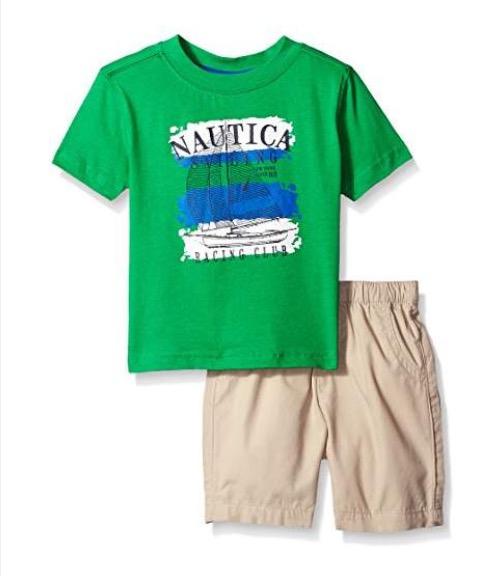 Amazon: Conjuntos de Playera y shorts Náutica desde 78.39