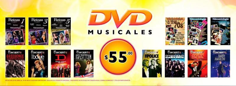 Mixup: DVDs musicales a $55