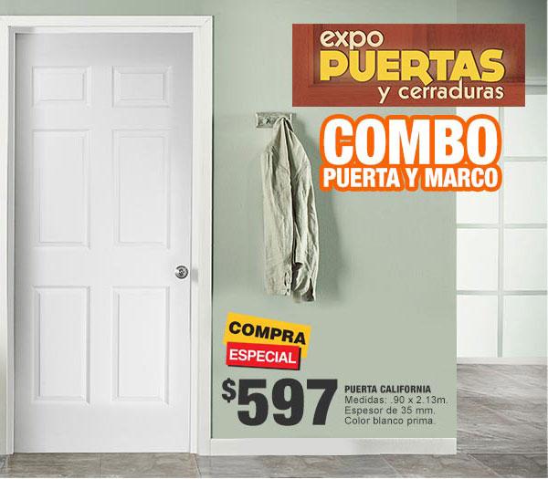 Home Depot: Combo de puerta y marco blanca 90x213
