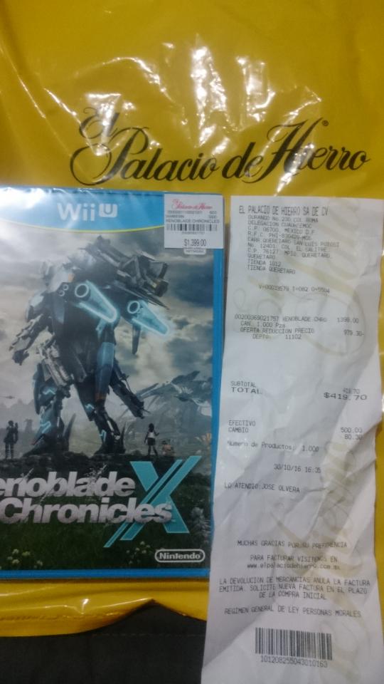 Palacio de Hierro Antea:  enoblade Chronicles X WiiU 70% DESCUENTO