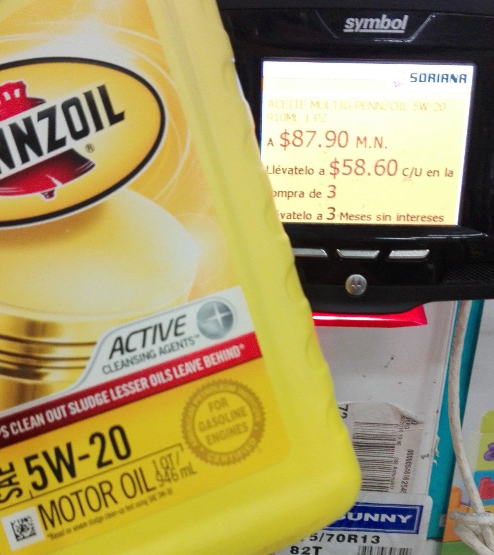 Soriana - Aceite Penzzoil 5W-20