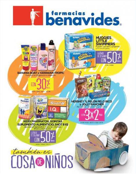 Folleto Farmacias Benavides abril 13: 3x2 en Hershey's, Heinz, Handex y más