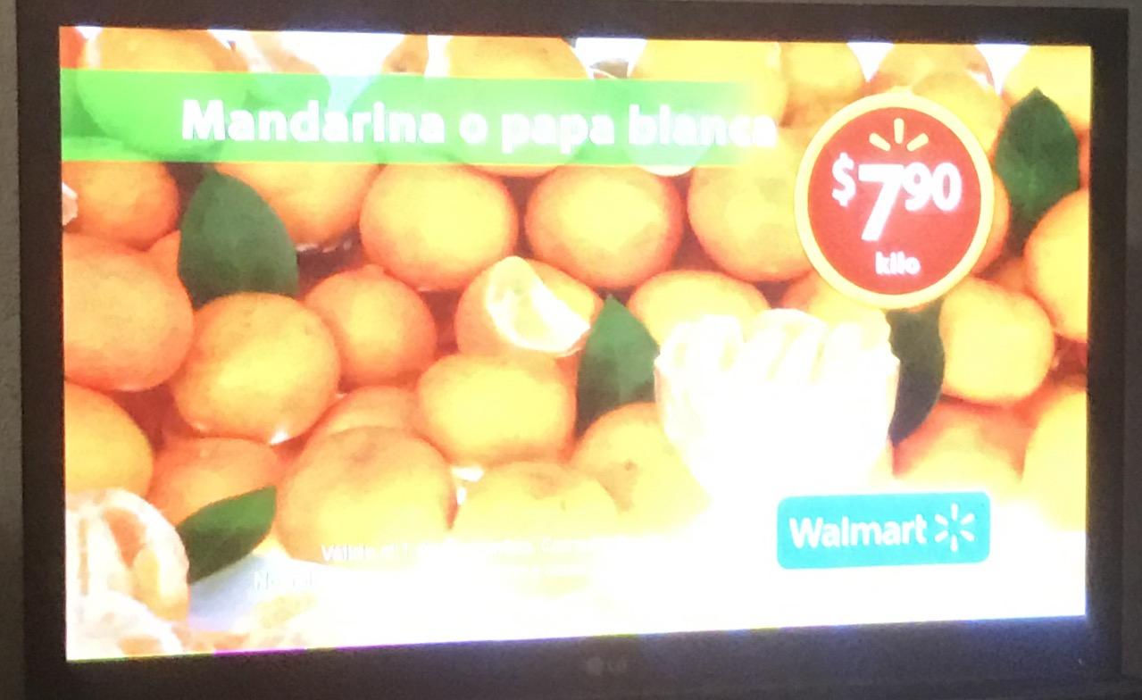Martes de frescura en Walmart noviembre 1: mandarina a $7.90 el kilo y más