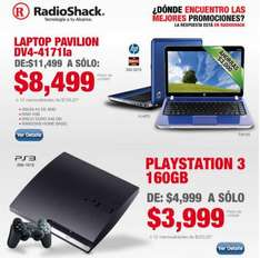 RadioShack: PlayStation 3 a $3,999 y laptop HP con 4GB de RAM $8,499