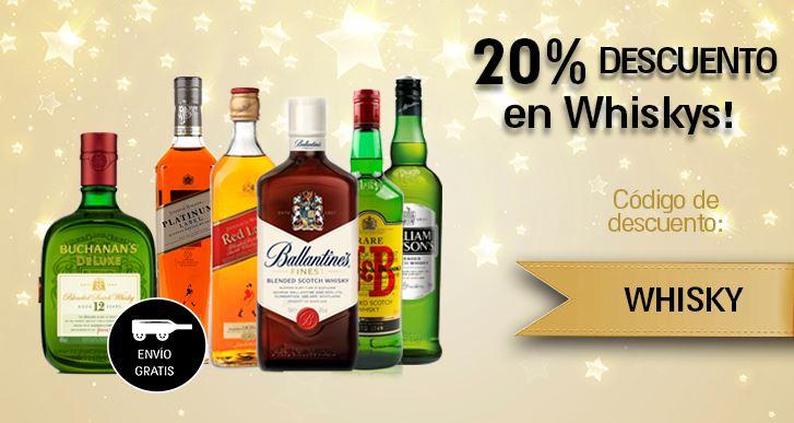 Paneco: Cupón de 20% de descuento en Whiskys