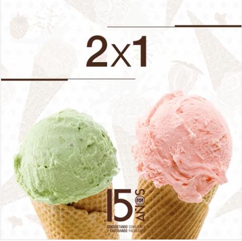 Crepes & Waffles: 2x1 Todos los helados todo el mes de Noviembre