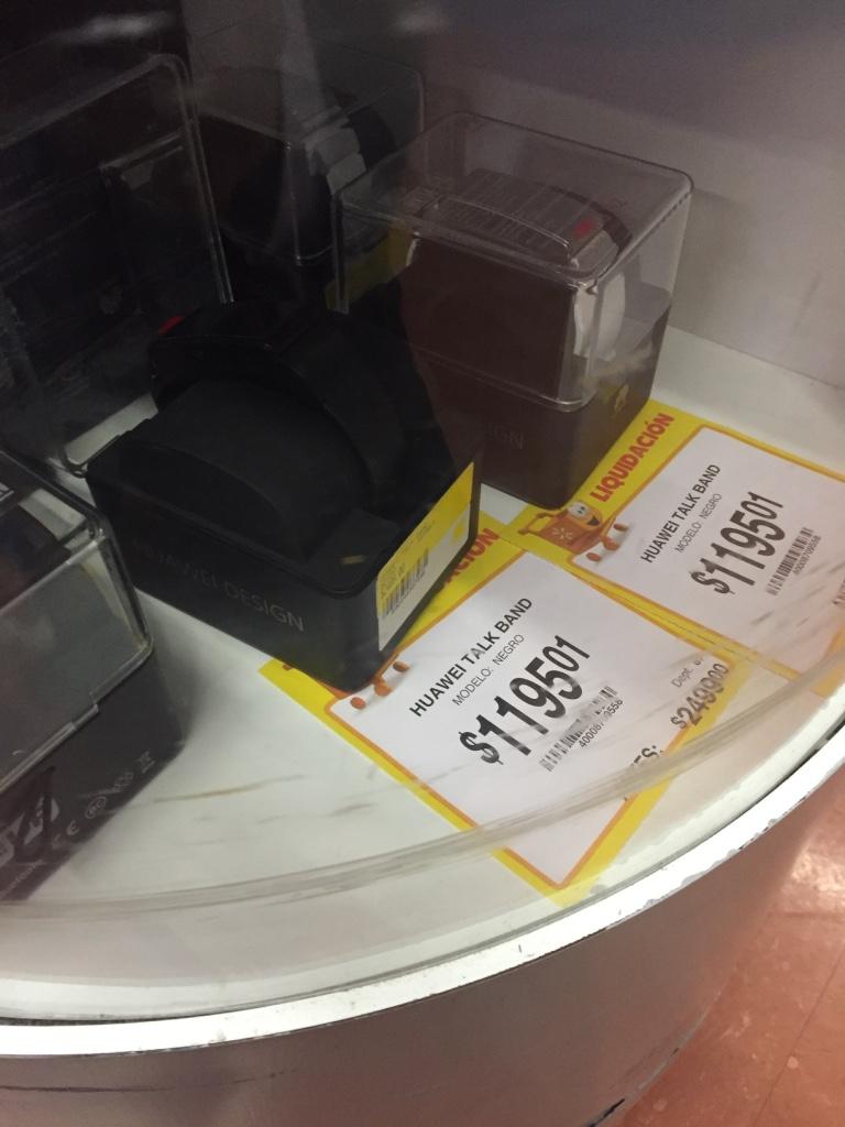 Walmart: varias liquidaciones, por ejemplo Huawei Talk Band 2 a $1,195.01