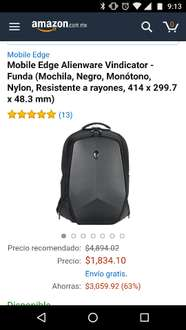 Amazon: Mochila Alienware Vindicator
