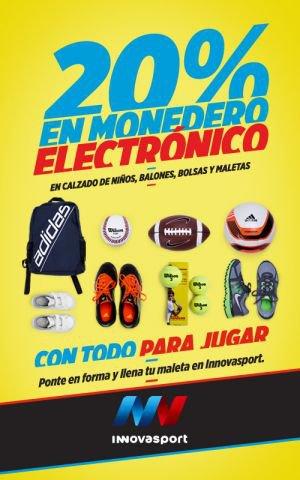 Innova Sport: 20% en monedero electrónico en calzado de niños, maletas y más