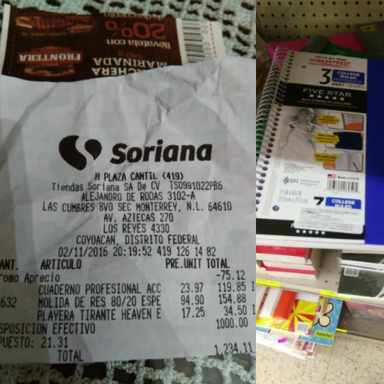 Soriana Cantil CDMX: cuadernos mead con 70% de descuento