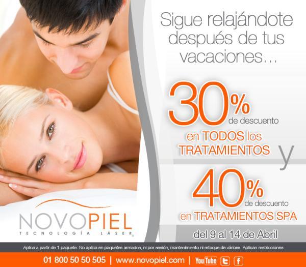 Novopiel: 30% de descuento en tratamientos y más a partir de un paquete