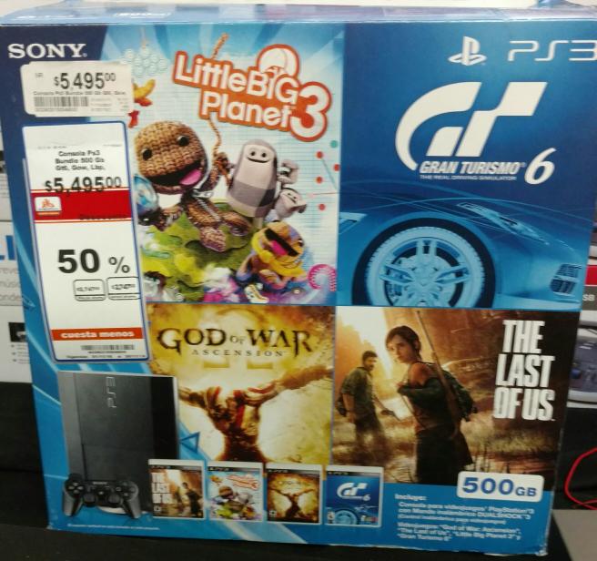 Chedraui: consola PS3 500gb con 4 juegos a $2,747 y columpio para jardín $850