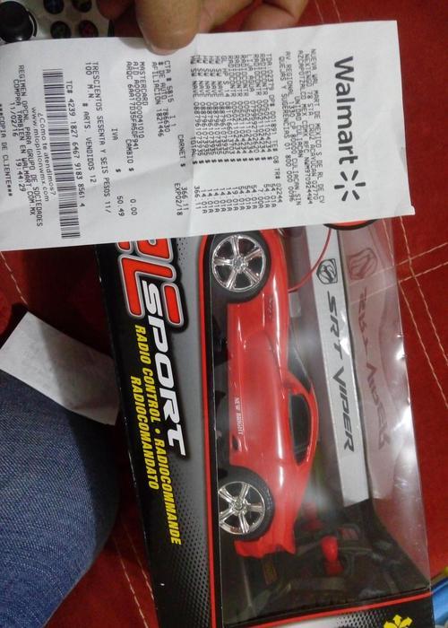 Walmart: carro control remoto mustang $54 pesos