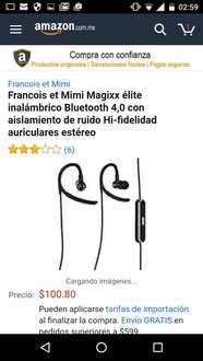 Amazon: manos libres Bluetooth Francois et Mimi Magixx a $101