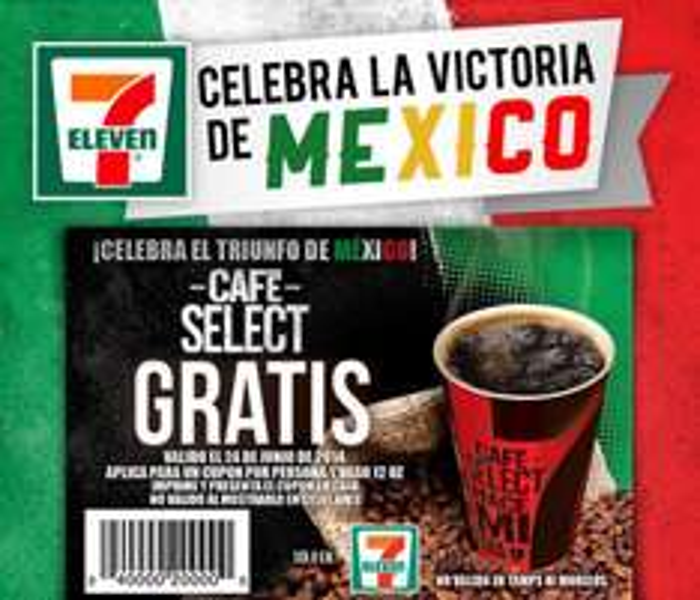 7 Eleven: café select gratis con cupón
