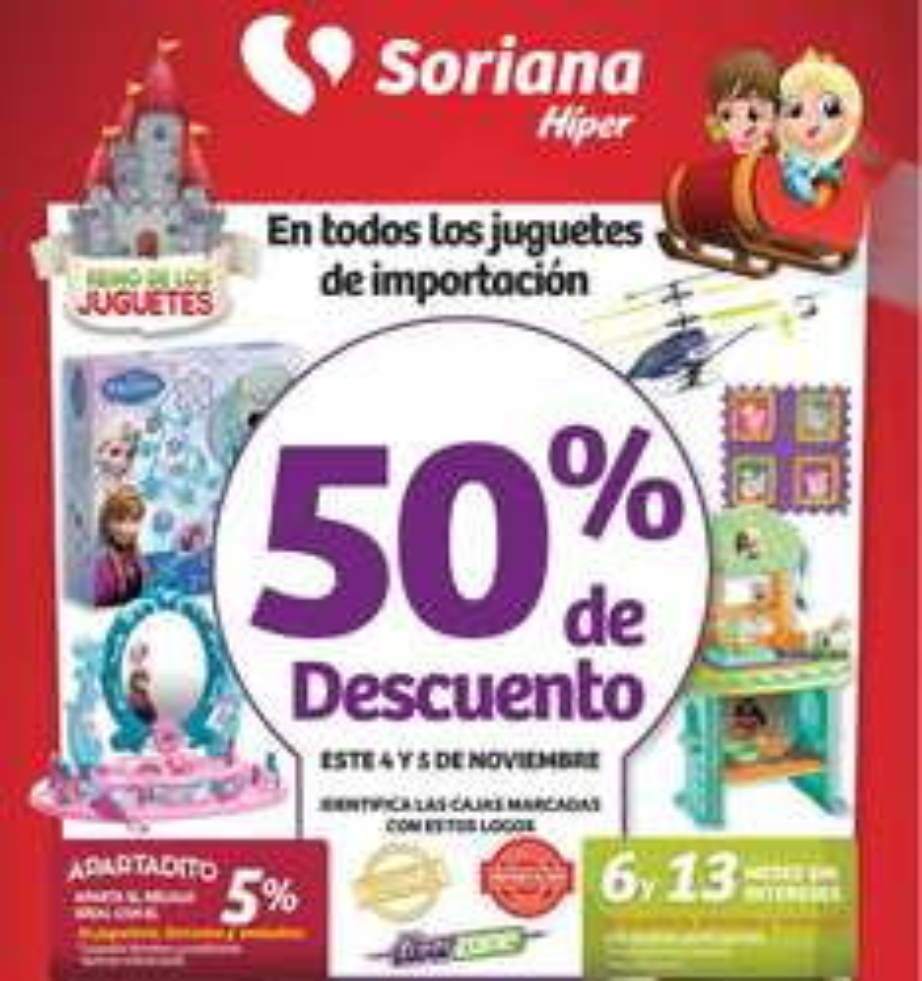 Soriana Nuevo León: 50% de descuento en juguetes importados