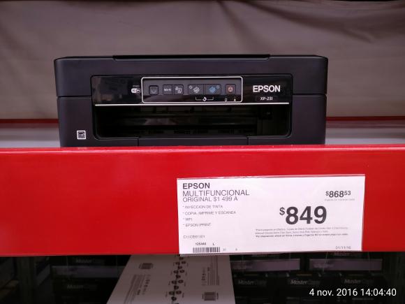 Sam's Club Poza Rica: Impresora Epson XP-231 a $849