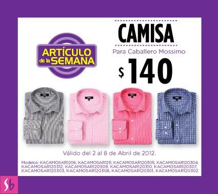 Artículo de la semana en Suburbia: camisa formal para caballero $140