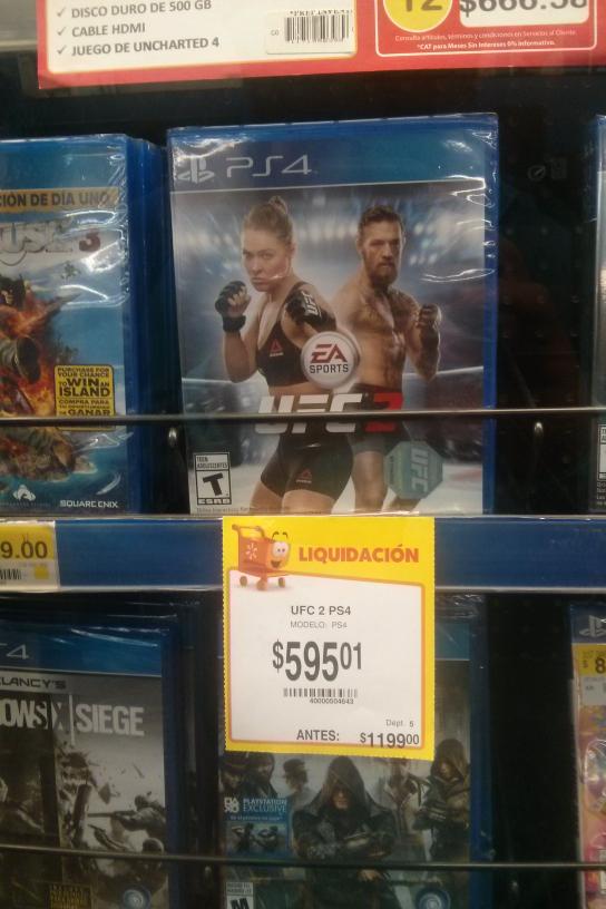 Walmart: UFC 2, y Dark Souls 3 para PS4 y Xbox One
