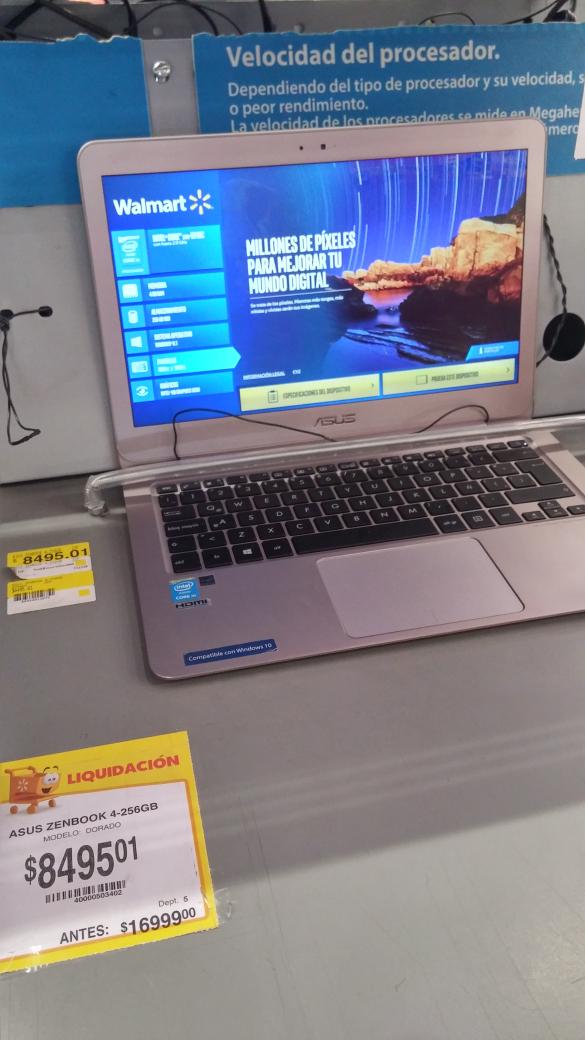 Walmart: laptop Azus en terminación .01