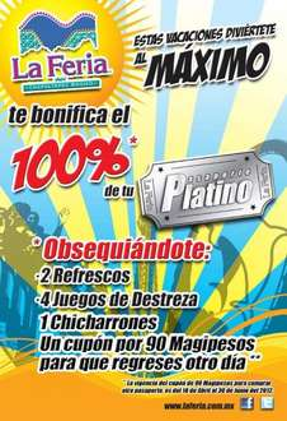 Feria de Chapultepec Mágico: bonificación de Pasaporte Plátino
