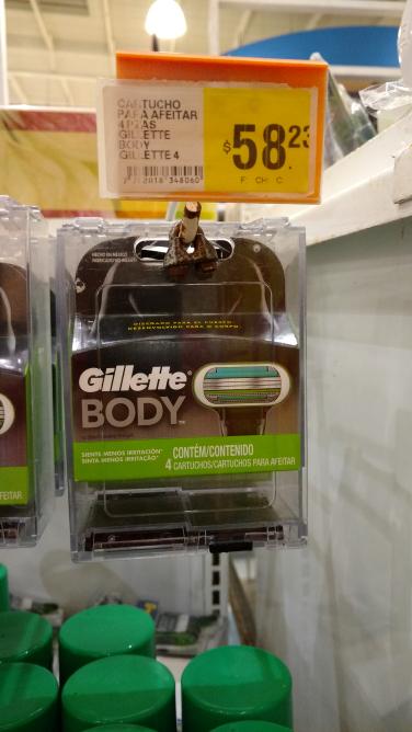 MEGA Coatzacoalcos: 4 cartuchos Gillette Body a 53.23 MNX