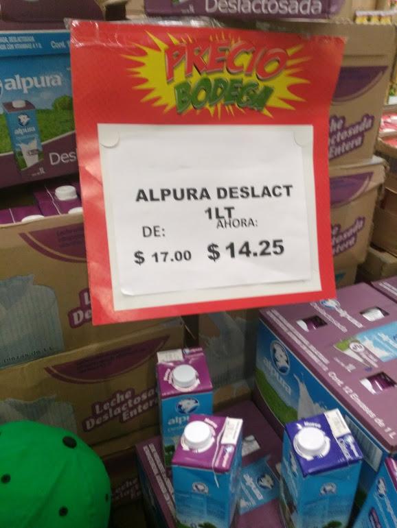 Bodega Aurrerá: leche deslactosada Alpura 1L a $14.25