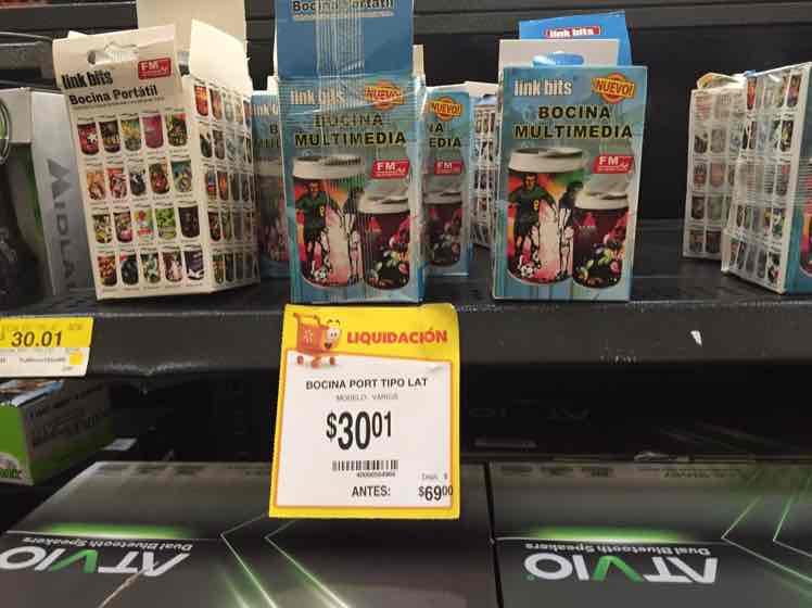 Walmart Miramontes: Bocina Portátil a $30.01