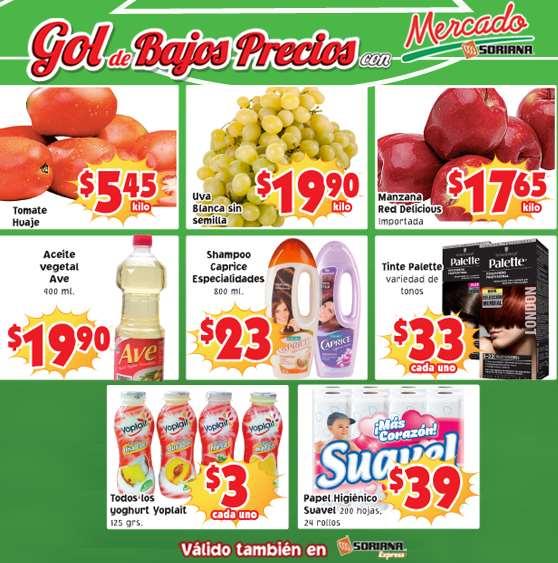 Ofertas de frutas y verduras en Soriana 24 y 25 de junio