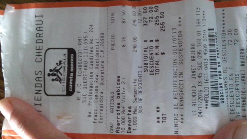 Chedraui: refresco Victoria de 2 litros a $8.75