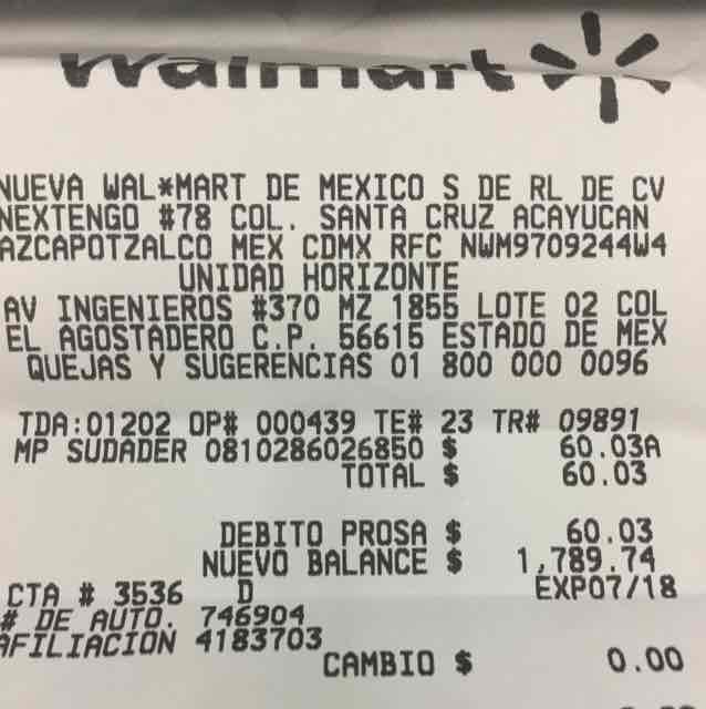 Walmart Valle de Chalco: varias liquidaciones