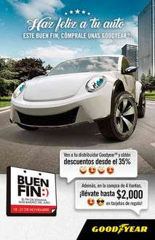 Promociones del Buen Fin 2016: Goodyear