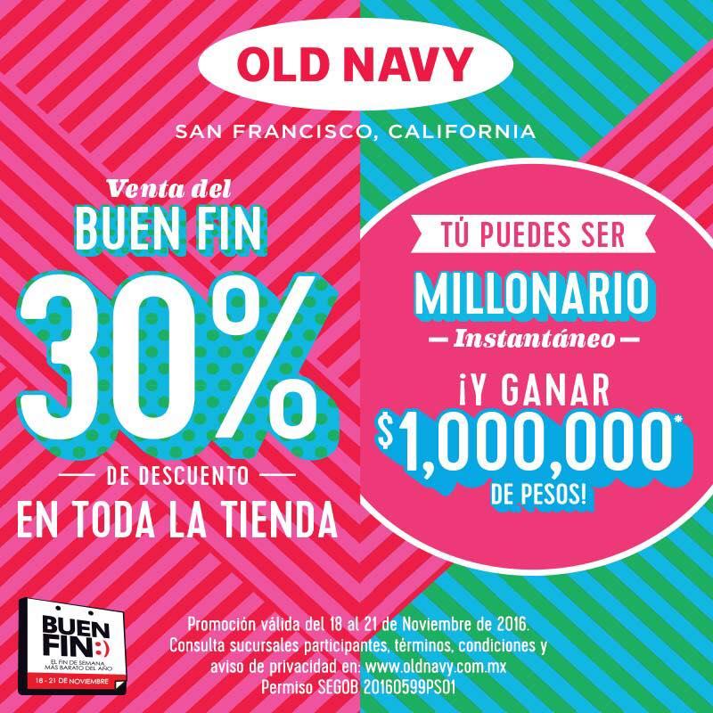 Promoción del Buen Fin en Old Navy: 30% de descuento