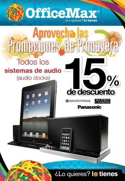 OfficeMax: 30% de descuento en antivirus y 15% en sistemas de audio y más (actualizado)