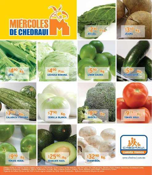 Miércoles de frutas y verduras Chedraui marzo 28: papa $4.90 Kg, plátano $7.90 Kg y más