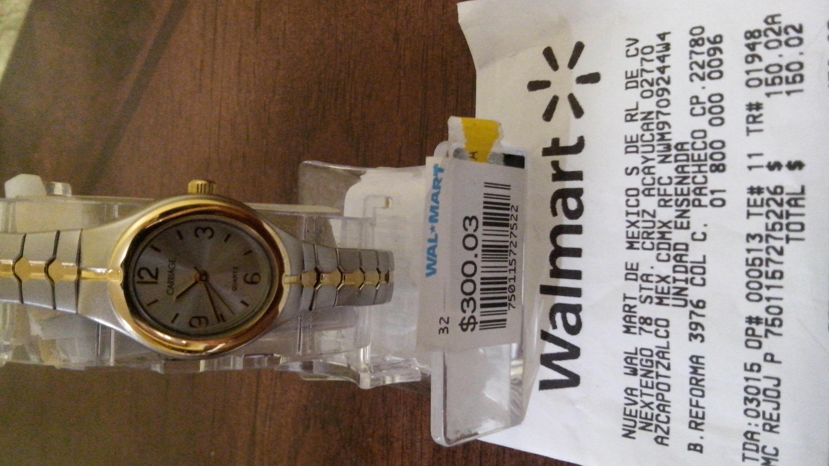 Walmart Ensenada: Reloj Timex en $60 y $150. Duelo de empleados villana vs amable