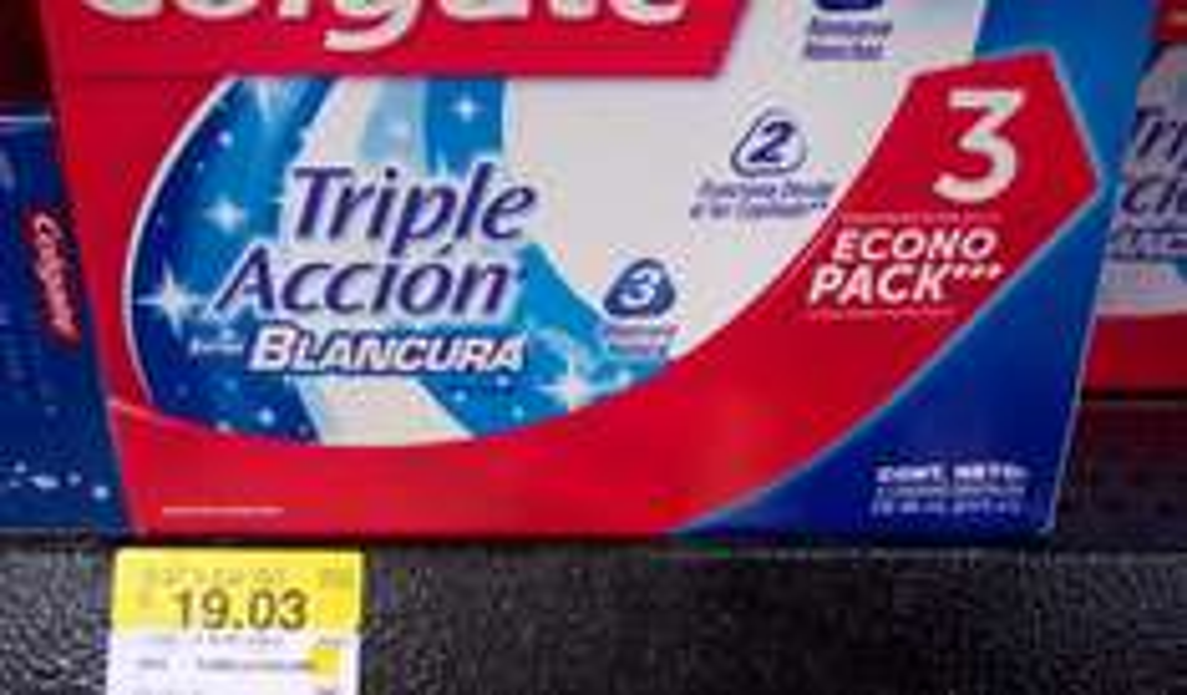 Walmart: 3 Colgate 90 ml. Triple Accion Extra Blancura a $19.03
