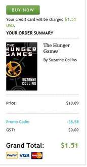 Libro digital The Hunger Games a 1.50 dólares