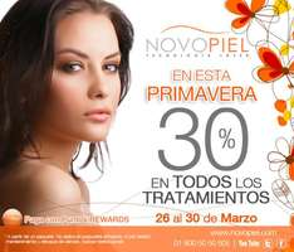 Novopiel: 30% de descuento en todos los tratamiendo a partir de un paquete
