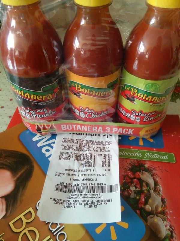 Wal-Mart: 3 pack salsa la botanera a $9.02