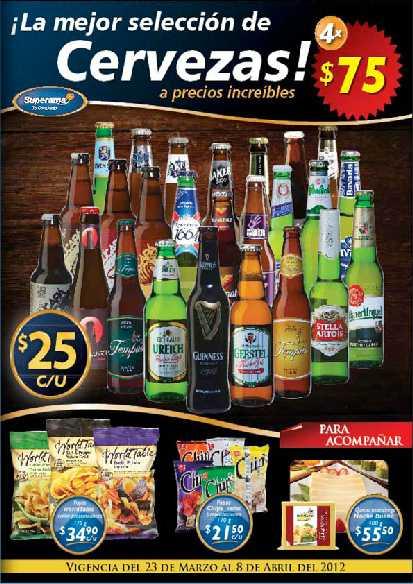 Folleto Superama marzo 23: 25% descuento en tarjetas iTunes, promoción en cervezas y más
