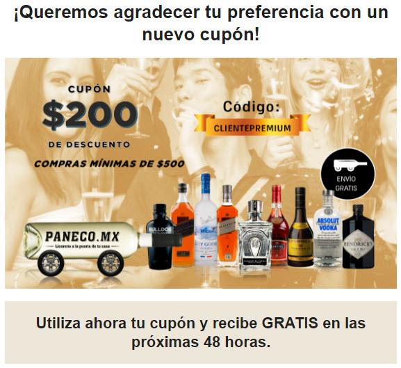 Paneco.mx: Cupón 200 de descuento en compras mínimas de 500