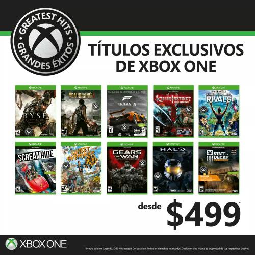 Juegos exclusivos de Xbox One ahora desde $499
