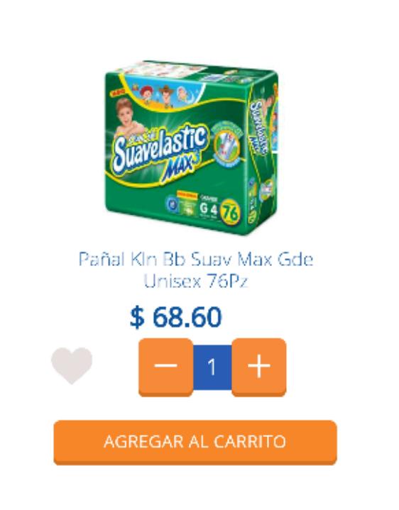 Chedraui Orizaba Veracruz: pañales Suavelastic Máx etapa 4 a $68.60