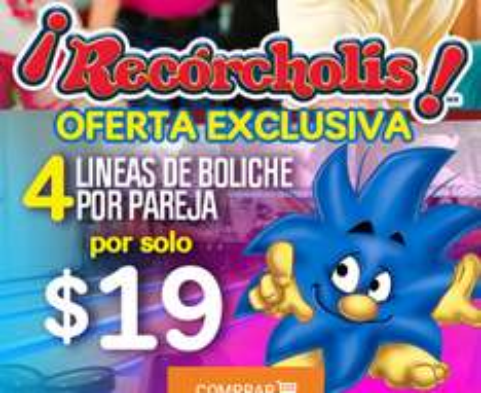 Pontebuso: 4 Líneas de Boliche  Por Pareja en RECORCHOLIS a $19.00
